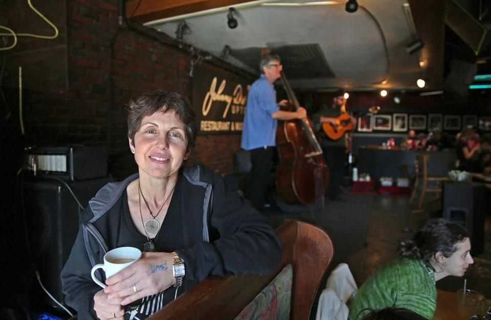 Carla DeLellis, owner of Johnny D's, pictured at the jazz brunch last Sunday.